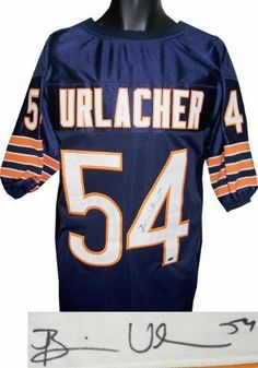 420e9535a Brian Urlacher Autographed Hand Signed Chicago Bears Navy Prostyle Jersey  by Hall of Fame Memorabilia