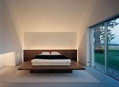 :: I like the soft indirect lighting in this space. John Pawson for Fabien Baron. Sweden #bedroom