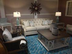 Kalin Home Furnishings Ormond Beach, Living Room Seating, Furniture Showroom, Home Furnishings, Couch, Table, Design, Home Decor, Settee