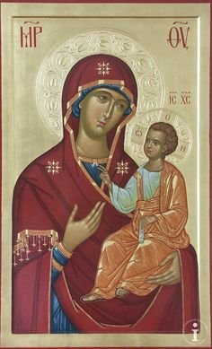 Author unknown to me. Religious Icons, Religious Art, Blessed Mother Mary, Byzantine Icons, Virgin Mary, Holy Mary, Orthodox Icons, Sacred Art, Kirchen