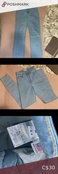 Check out this listing I just found on Poshmark: American Apparel Jeans👖. #shopmycloset #poshmark #shopping #style #pinitforlater #American Apparel #Denim Light Wash Skinny Jeans, Light Blue Jeans, Blue Skinny Jeans, American Apparel Jeans, American Eagle Jeans, Khaki Jeans, High Waisted Mom Jeans, Guess Jeans, Black Skinnies
