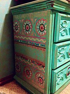 Detail of dresser (thrift store find)