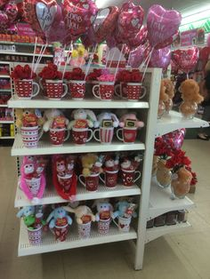 Great gifts at dollar tree Valentines Day Baskets, Valentines Day Gifts For Friends, Valentines Mugs, Valentines Day Party, Valentine Day Gifts, Pinterest Valentines, Candy Bouquet Diy, Corporate Gift Baskets, Romantic Gifts For Him