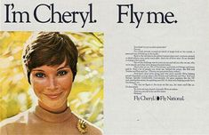 Airline Ads: I'm Cheryl. Fly Me! Fly-Me