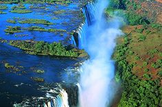 Victoria Falls, Zimbabwe The Victoria falls is 1 708 meters wide, making it the largest curtain of water in the world. Description from pinterest.com. I searched for this on bing.com/images