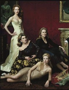Part of the 2001 Master Class photo: Nicole Kidman, Catherine Deneuve, Meryl Streep, Gwyneth Paltrow | Annie Leibovitz #leibovitz