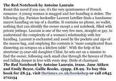 The Times review of The Red Notebook on 25 April 2015 Novels, Notebook, Romance, Times, Feelings, Day, Books, Romance Film, Romances