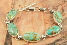 Beautiful Number 8 Mine Turquoise Bracelet at www.TreasuresoftheSouthwest.com/BR2039-p-turquoise-bracelets.html