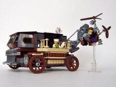 Lego Steampunk Ice Cream Truck & Tricycle being served | Flickr - Photo Sharing!
