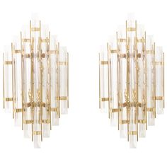 Vintage Italian Murano Glass and Brass Sconces | From a unique collection of antique and modern chandeliers and pendants  at https://www.1stdibs.com/furniture/lighting/chandeliers-pendant-lights/