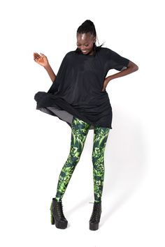 Emerald Leggings by Black Milk Clothing
