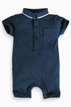 Buy Navy Polo Romper (0-18mths) online today at Next: Belgium