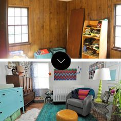 Before & After: Two Bedrooms Go from Dark to Doused in Color | Design*Sponge