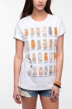 Gemma Correll Cats Of The World Tee - I need this shirt