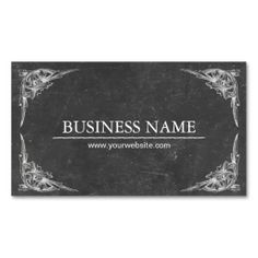 Vintage Chalkboard Personal Shopper Business Card Template. Make your own business card with this great design. All you need is to add your info to this template. Click the image to try it out!