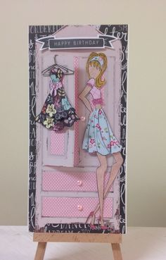 Handmade prima doll card by Alison Moore .