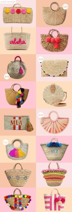summer accessories One trend I cant get enough of this season Straw bags! Today, Im rounding up the best straw bags of the summer. Summer Handbags, Straw Handbags, Summer Bags, Summer Gifts, Happy Summer, Summer Wear, Summer Time, My Bags, Purses And Bags