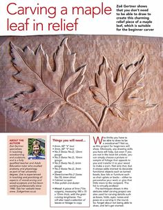 Carving Maple Leaf in Relief - Wood Carving