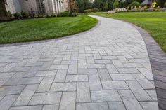 Imagine strolling down your walkway, surrounded by a beautiful garden that you created! This beautiful Cambridge Pavingstones walkway is a perfect complement to greenery. Installation: Plantique