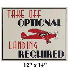 LOL! And not a crash landing....