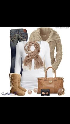 Fall style...love it all, especially the scarf!! Idc what anyone ever says.. I will always LOVE uggs