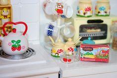 Re-ment mushroom tea set