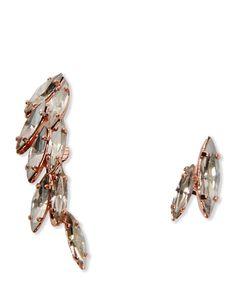 Ryan Storer Rose Gold Crystal Ear Cuff - Shop more styles: http://shop.harpersbazaar.com/jewelry/earrings/