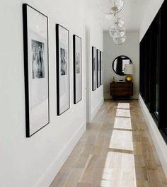 Entry Hallway Floor Hallway Tile Ideas Hall With Narrow Hallway Tiled Floor Narrow Hallway Home Entryway Decor Hallway Art, Modern Hallway, Upstairs Hallway, Entry Hallway, Hallway Ideas, Entryway Ideas, Hallway Mirror, Hallway Lighting, Entryway Decor