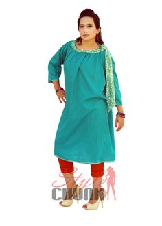 Brand: Style Chunk Product Name: Sea green frock with sequins bow neck Product Description: Sea green cotton gathered neck line with sequins knot. Quarter sleeves and lining fabric. Reference: DA1006 Available Color: Blue, Green, Yellow, Pink, Purple Price: Rs 1,600 Size: Small, Medium, Large, Extra Large To order Call Us: +923351622713 or +923350014411 Viber and Whats App: +923350014411 Email: info@stylechunk.com