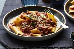 Stracci Pasta with Braised Lamb Ragu & Chilli Gremolata - Coles Recipes & Cooking Lamb Ragu, Lamb Stew, Gremolata Recipe, Condensed Milk Recipes, Braised Lamb, Pressure Cooker Recipes, Pressure Cooking, Slow Cooking, Best Slow Cooker