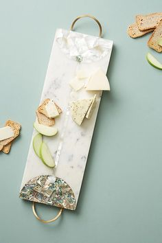 Nina Marble Cheese Board by Anthropologie in White, Kitchen Bridal Gifts, Wedding Gifts, Wedding Ideas, Trader Joe's Cheese, Restauration Hardware, Marble Cheese Board, Cheese Boards, Charcuterie Platter, Charcuterie Cheese