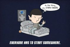 This is so me. I can honestly not do the Vulcan Salute...and I call myshelf a Trekkie