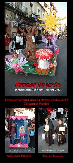 Carnaval Infantil 2012 de Arenas de San Pedro. Premios de Parejas.