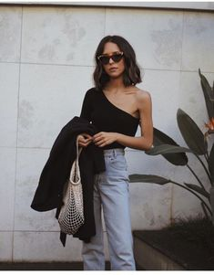 I love this simple one shoulder top!