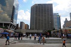 downtown skate park - Google Search Skate Park, Skyscraper, Urban, Google Search, Building, Skyscrapers, Buildings
