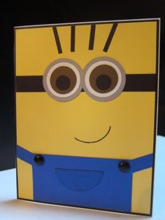 """Stampin Up """"Despicable Me 2"""" Minion Character Handmade Card for All Occasions 