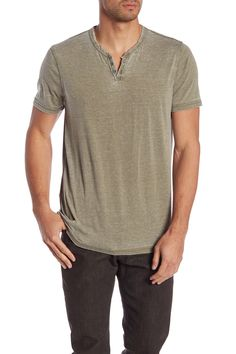 Lucky Brand Vintage Short Sleeve Henley In Dark Olive Vintage Shorts, Nordstrom Rack, Lucky Brand, Casual Outfits, Short Sleeves, Vintage Fashion, Mens Fashion, Mens Tops, Clothes