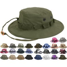 e2d32c6bb8f Tactical Boonie Hat Military Camo Bucket Wide Brim Sun Fishing Bush Booney  Cap