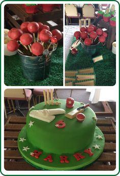 Jaime S's Birthday / Cricket Party Theme - Photo Gallery at Catch My Party Cricket Birthday Cake, Cricket Theme Cake, Birthday Favors, Dad Birthday, Birthday Party Themes, Birthday Ideas, Dad Cake, Themes Photo, Themed Cakes