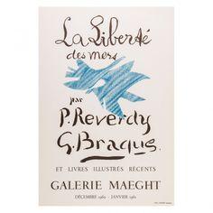 Georges Braque 'La Liberte Des Mers' Poster