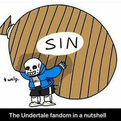 Sans feels the fandoms sins crawling on his back