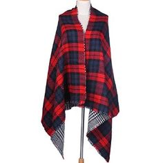 $15.99 Super Soft Cashmere Feel Winter Scarf in Plaids Shawl Shipped from US. Sold on Amazon