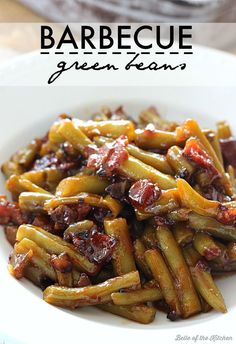 These Barbecue Green Beans make a great side dish for special occasions or any weeknight meal! They are loaded with bacon, onions, and a homemade bbq sauce.