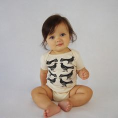 this baby is so cute  SALE  Grackle Pattern Organic Infant Bodysuit in by eleventyfive, $20.70