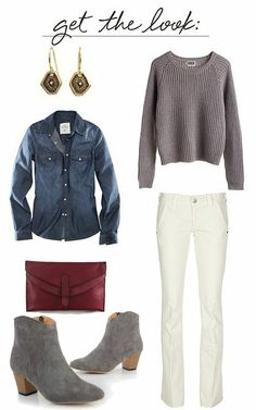 how to wear white jeans in the winter.--THANK YOU white jeans should be  winter wear! b297bb0fbc
