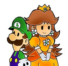 Daysi y luigi predisenado XD by Goombarina on DeviantArt Luigi And Daisy, Princess Daisy, Mario Brothers, Super Mario Bros, Game Character, Bowser, Nintendo, Peach, Characters