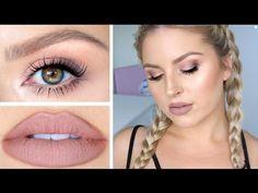 Hair, Makeup & Skin Tutorial! ♡ Soft Daytime Smokey Eye for Autumn! - YouTube