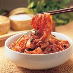 Kimchi is a traditional Korean condiment, which is also used as a side dish for most of the Korean dishes. Kimchi is also known as Kim Chee, kimchee or gimchi Cooking Chinese Food, Korean Food, Asian Recipes, Healthy Recipes, Ethnic Recipes, Napa Cabbage Recipes, Korean Kimchi, Kimchi Kimchi, Kimchi Food