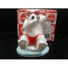 """COCA-COLA POLAR BEAR """"ALWAYS SWIMMING"""" FIGURINE  Would be so cool to have this out for Polar Bear Brunch!"""