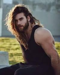 Image result for handsome men long hair
